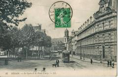 Le Lycée et la Place Cursy - Sedan