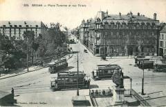 Place Turenne et rue Thiers - Sedan