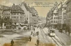 Cigogne 308 - Strasbourg - Place Gutenberg et rue des Grandes Arcades - Strasbourg