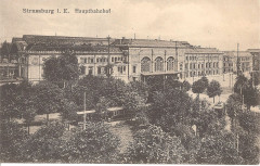 Gare de Strasbourg vers 1910 (carte postale) - Strasbourg