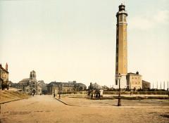 Flickr - …trialsanderrors - Lighthouse and St. Peter's church, Calais, France, ca. 1895 - Calais