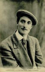 Carte postale ancienne de l'aviateur René Vidart - Ambérieu-en-Bugey