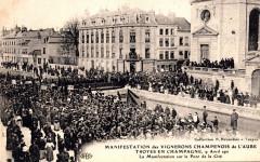 Troyes manife vignerons 1911 - Troyes
