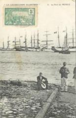971-Guadeloupe-Voiliers dans le port Moule-vers 1905