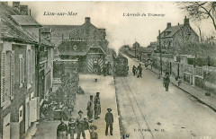 V. P. 13 - Lion-Sur-Mer - L'arrivée du Tramway - Lion-sur-Mer
