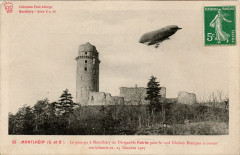 Le passage à Montlhéry du Dirigeable Patrie pour le raid Chalais Etampes et retour 100 kilomètres - Linas