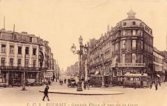 Grande Place et rue de la Gare - Roubaix