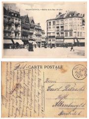 Valenciennes entrée de la rue de Lille, courrier d'un soldat allemand durant la 1ère Guerre Mondiale 1915. Feldpost karte - Valenciennes