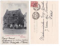 Valenciennes Maison du Prévôt XIIIe siècle, carte postale, voyagée 1902 - Valenciennes
