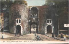Postcard- Boulogne-sur-Mer - Porte des Dunes, sent June 1915  - Boulogne-sur-Mer