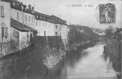 Mauléon-Vue du Saison vers l'aval depuis le pont des Galeries (1910) - Mauléon-Licharre