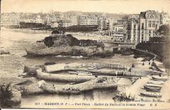 Port Vieux - Rocher du Basta et la grande plage - Biarritz