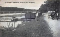 1910-samoreau-chemin-de-halage-et-pont-de-valvins 77 Seine et Marne