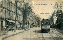 Charenton - La rue de St-Mandé