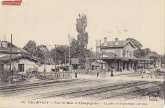 Ff 179 - Champigny - Parc St-Maur et Champignoles - La gare et le passage à niveau