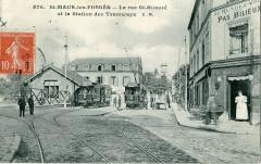 St Maur Des Fosses - La rue Honoré et la station des Tramways