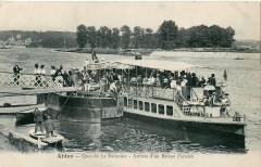 Tulle - Ablon - Quai de la Baronnie - Arrivée d'un bateau parisien