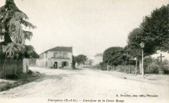 Fourqueux - Carrefour de la Croix Rouge - A. Bourdier - Saint-Germain-en-Laye