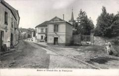 Mairie et Grande-Rue de Fourqueux - A. Bourdier - Saint-Germain-en-Laye