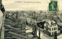 Poissy - panorama pris de l'église - Poissy