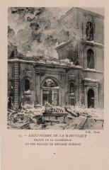 Façade de la cathédrale de Saint-Pierre le 8 mai 1902