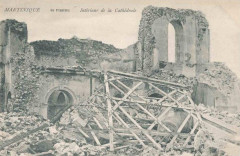 Intérieur ruiné de la cathédrale de Saint-Pierre