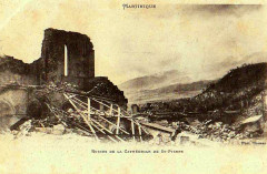 Martinique ruines de Saint-Pierre