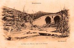 Martinique Ruines du Pont de l'Union en 1902