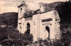Ruines de la cathédrale de Saint-Pierre en 1908