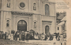 Saint-Pierre de la Martinique La Cathédrale, vue prise le dimanche avant la catastrophe