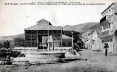 Saint-Pierre, la place Bertin en 1929