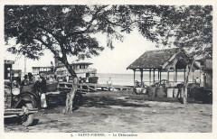 Saint-Pierre, le débarcadère