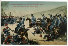 12138-Mondidier-1910-Königlich Sächsisches Gardereiter-Regiment im Gefecht bei Mondiedier 15. Oktober 1870-Brück & Sohn Kunstverlag France