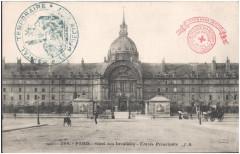 Postcard- Paris - Hotel des Invalides - Entree Principale  - Paris 7e