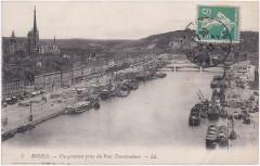 7 Rouen. — Vue générale prise du Pont Transbordeur — Ll - Rouen