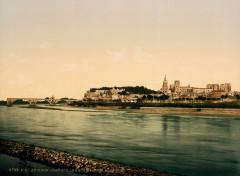 Flickr - …trialsanderrors - Rhone Bridge ^ Papal Palace, Avignon, Provence, France, ca. 1896 - Avignon