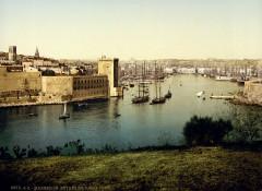 Entrance to the Vieux-Port, Marseille, France, ca. 1895 - Marseille 7e Arrondissement
