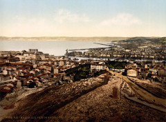 Flickr - …trialsanderrors - Marseille viewed from Notre Dame de la Garde, ca. 1895 - Marseille 7e Arrondissement