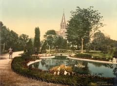 Mulhouse, église Sainte-Geneviève, photo 1900 - Mulhouse