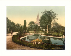 Promenade and St. Genieve Church Mulhausen Alsace Lorraine Germany - Mulhouse