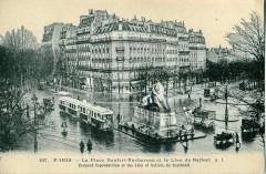 La Place Denfert-Rochereau et le Lion de Belfort 75 Paris 14e