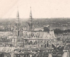 Postcard- Paris - Panorama - Quartier Sainte Clotilde  (cropped) - Paris 7e