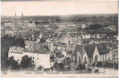 Postcard- Paris - Panorama - Quartier Sainte Clotilde  - Paris 7e