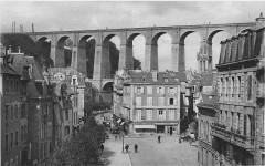 Morlaix bridge Ll postcard - Morlaix