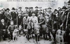 Retour de chasse aux sangliers Lanmeur 1910 - Lanmeur