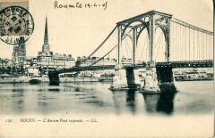 L'Ancien Pont suspendu - Rouen