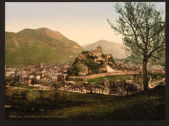 The city and the castle, Lourdes, Pyrenees, France-LCCN2001698644 France