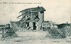 La Gare du Chemin de Fer de Banlieue - Le CBR - Reims