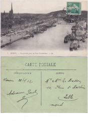 Rouen (France – Seine-Maritime) — Vue générale prise du Pont Transbordeur — - Rouen