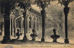 160. Toulouse. Le cloître, galerie extérieure. Nd Phot. - FRAC31555 9Fi3008 - Toulouse